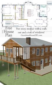 One Story House Plans With Walkout Basement by 90 Best Free House Plans Grandma U0027s House Diy Images On Pinterest