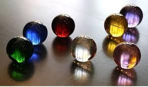 60mm 6pcs mixed color large decorative glass balls rutilated