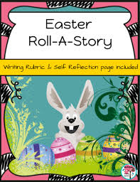 the story of the easter bunny bunny roll a story writing activity