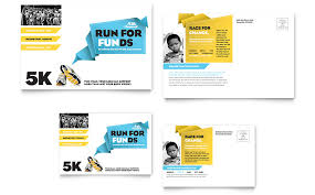charity run postcard front and back direct mail pinterest