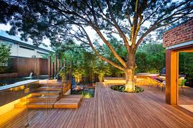 architecture fascinating backyard using wooden theme with natural
