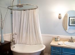 ideas for bathroom curtains clawfoot tub shower curtain ideas bathroom eclectic with clawfoot