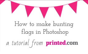 Safety Pennant Flags Photoshop Tutorial Bunting Graphics For Invitations Youtube