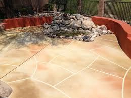 Backyard Concrete Ideas Exterior Interesting Ideas Of Stained Concrete Patio To