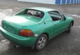 honda civic sol for sale 93 honda civic sol si automatic convertible samba green must