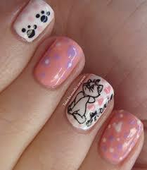 cute cat design nail art i love this one since i am a cat u0027s