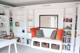 Storage Bookcase With Doors Bookshelf Awesome Ikea Built In Bookcase Glamorous Ikea Built In