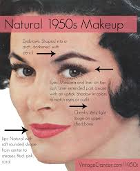 hair and makeup vintage authentic natural 1950s makeup history and tutorial makeup history