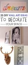 23 diy wall art ideas to decorate your space
