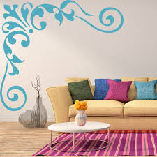 Fleur De Lis Wall Stickers Floral Corners Wall Stickers Iconwallstickers Co Uk