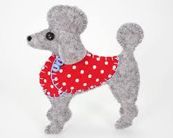 poodle christmas ornament felt dog ornament poodle ornament