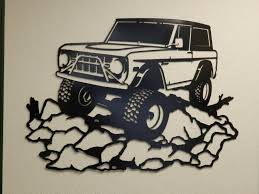 jeep metal art early ford bronco metal wall art