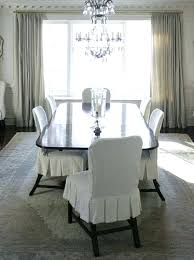 White Slipcover Dining Chair Slipcovered Dining Room Chairs White Dining Chair