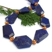 handmade statement necklace images Lapis lazuli chunkynecklace blue gemstone copper handmade jewelry jpg