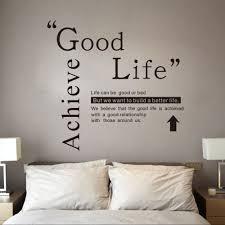 dsu good life wall sticker quotes english motto bedroom living dsu good life wall sticker quotes english motto bedroom living room home decal black