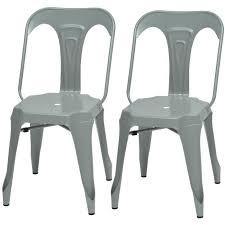 m chaises kraft zoeli lot de 2 chaises de salle à manger métal gris satiné