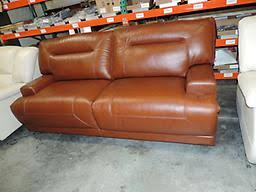 Ricardo Cognac Leather Dual Power Reclining Sofa - Ricardo leather reclining sofa