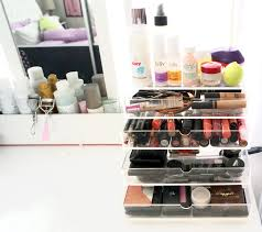 clear acrylic makeup storage makeup collection makeup cube by