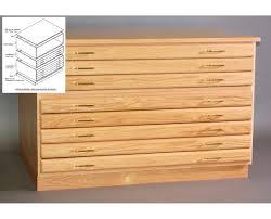 Wood Flat File Cabinet Smi 5 Drawer Oak 24 X 36 Plan File 2436 5d Tiger Supplies
