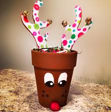 Kids Reindeer Crafts - learn how to make a terra cotta pot reindeer craft for christmas