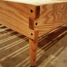 Bed Frame Joints Live Edge Bed I Made For My With Butterfly Butterfly