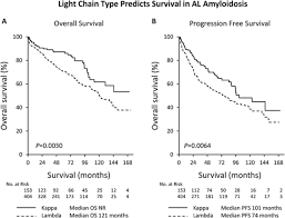 difference between kappa and lambda light chains light chain type predicts organ involvement and survival in al