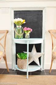 Foyer Entry Tables Diy Chalk Painted Entry Table The Happy Housie