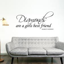 nice marilyn monroe quote decal girl room decor ideas bedroom full size of decoration diamons are a girl best friend marilyn monroe quote wall decal