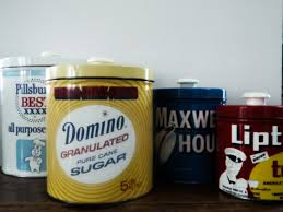 vintage retro metal tin kitchen canister set pillsbury flour vintage retro metal tin kitchen canister set pillsbury flour domino sugar maxwell house coffee lipton tea old graphic advertising rockabilly