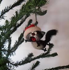 christmas ornaments unique singing cat needle felted christmas ornaments christmas tree