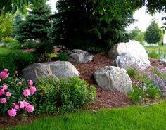 Boulder Landscaping Ideas Designed For Privacy Within A Subdivision This Front Yard