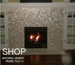 fireplace tile designs images ideas slate natural mother pearl