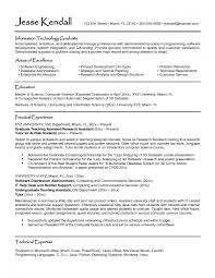 Technical Support Resume Format Winsome Resume Samples High Graduate Sample Template Law