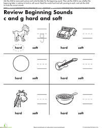 review beginning sounds c and g worksheet education com