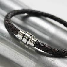 bracelet designs men images Men 39 s leather bracelet with modern clasp by zamsoe jpg