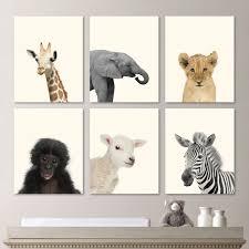 Woodland Animal Nursery Decor by Baby Animal Prints Baby Nursery Print Art Baby Animal Art