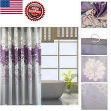 Dark Purple Shower Curtain Shower Curtains In Pattern Floral Color Purple Ebay