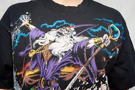 liquid blue wizard t shirt 1994 fantasy clothing
