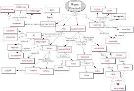concept map organic compounds