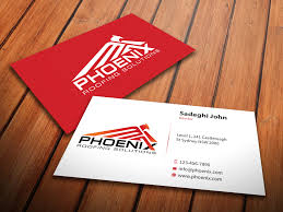 modern professional business card design for roofing