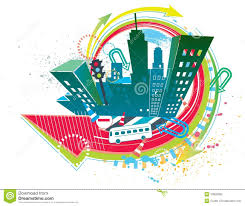 Colorful City Colorful City Stock Vector Image Of Building Modern 10828363