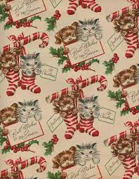 best wrapping paper vintage gift wrap christmas puppies christmas kittens best