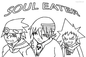 anime soul eater coloring pages u2013 barriee