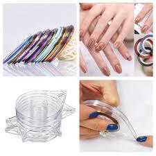 aliexpress com buy 6pcs nail art tools stickers roller box