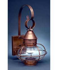 Antique Brass Outdoor Wall Lights by Northeast Lantern 2521 Med Onion 9 Inch Wide 1 Light Outdoor Wall