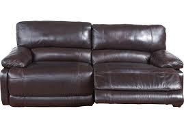 The Brick Leather Sofa Home Auburn Brown Leather Power Reclining