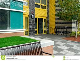 color patterns in modern architecture stock image image 3648351