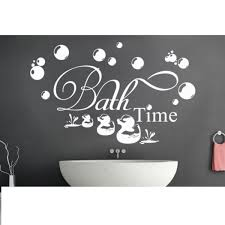 bath time ducks bubbles wall stickers decal removable bathroom bath time amp ducks amp bubbles wall stickers