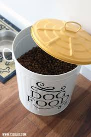 Vintage Food Storage Containers - andrew james vintage dog food u0026 treat storage tin box container