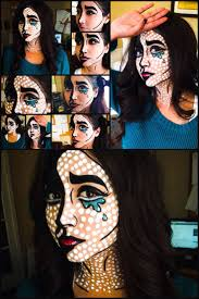 Pop Art Halloween Costume 25 Pop Art Face Ideas Simple Face Drawing
